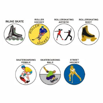 Skate (Roller) Sports pk of 5 25mm centres-